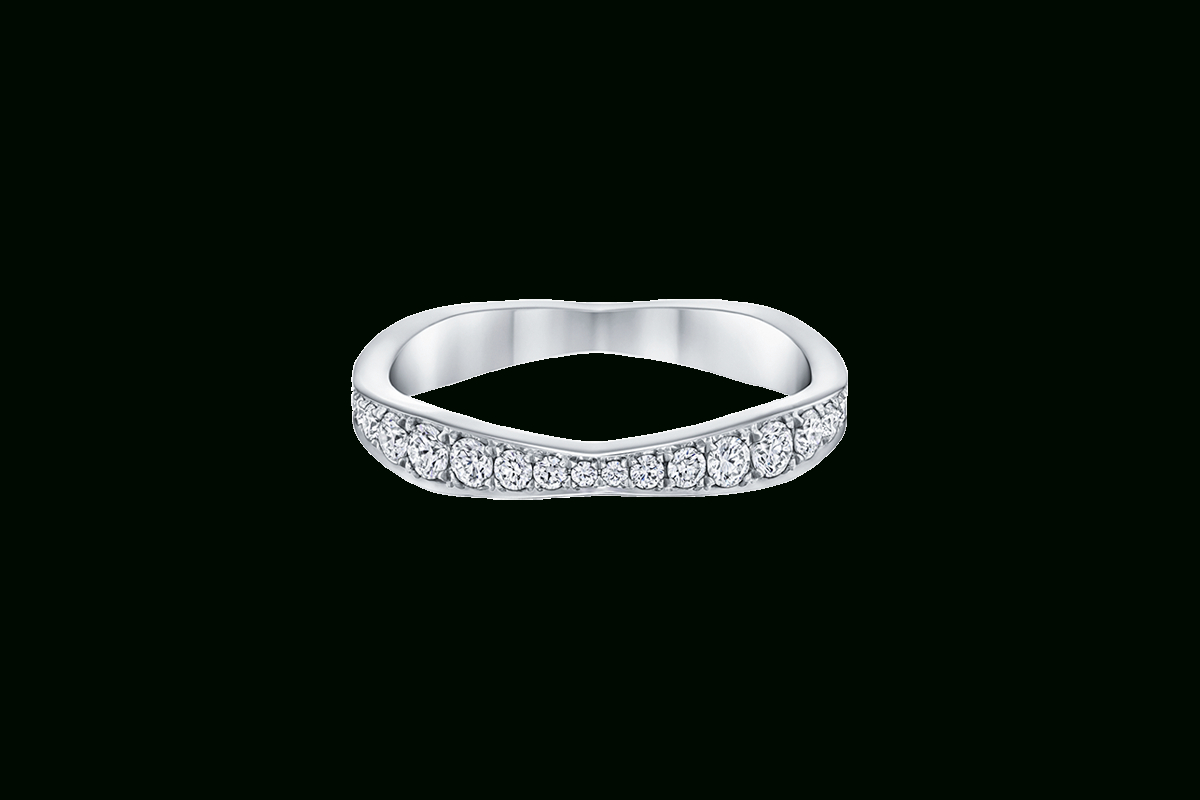 Wave Diamond Wedding Band With Pavé | Harry Winston With Regard To 2017 Wave Diamond Wedding Bands With Pavé (View 2 of 25)