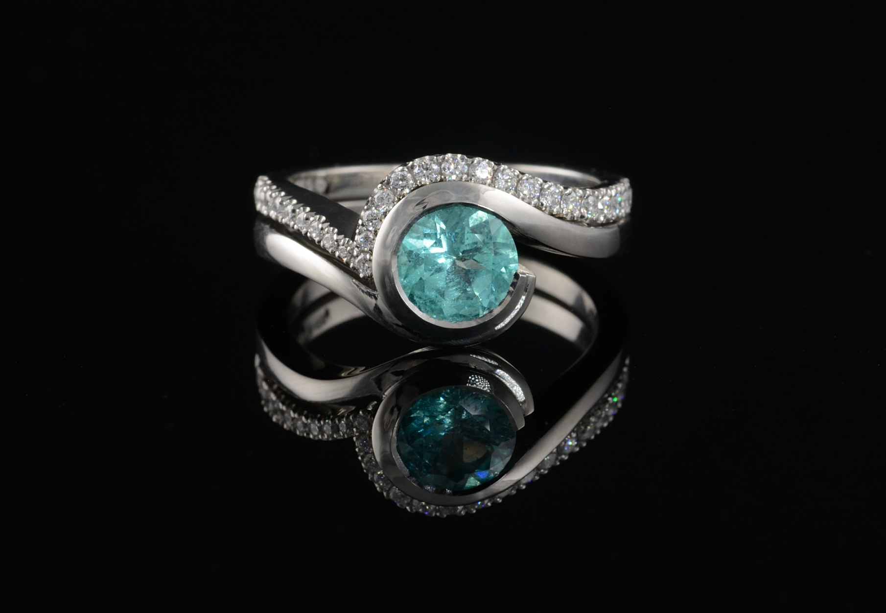 Wave Engagement Rings – Mccaul Goldsmiths Within Latest Wave Diamond Wedding Bands (View 8 of 25)