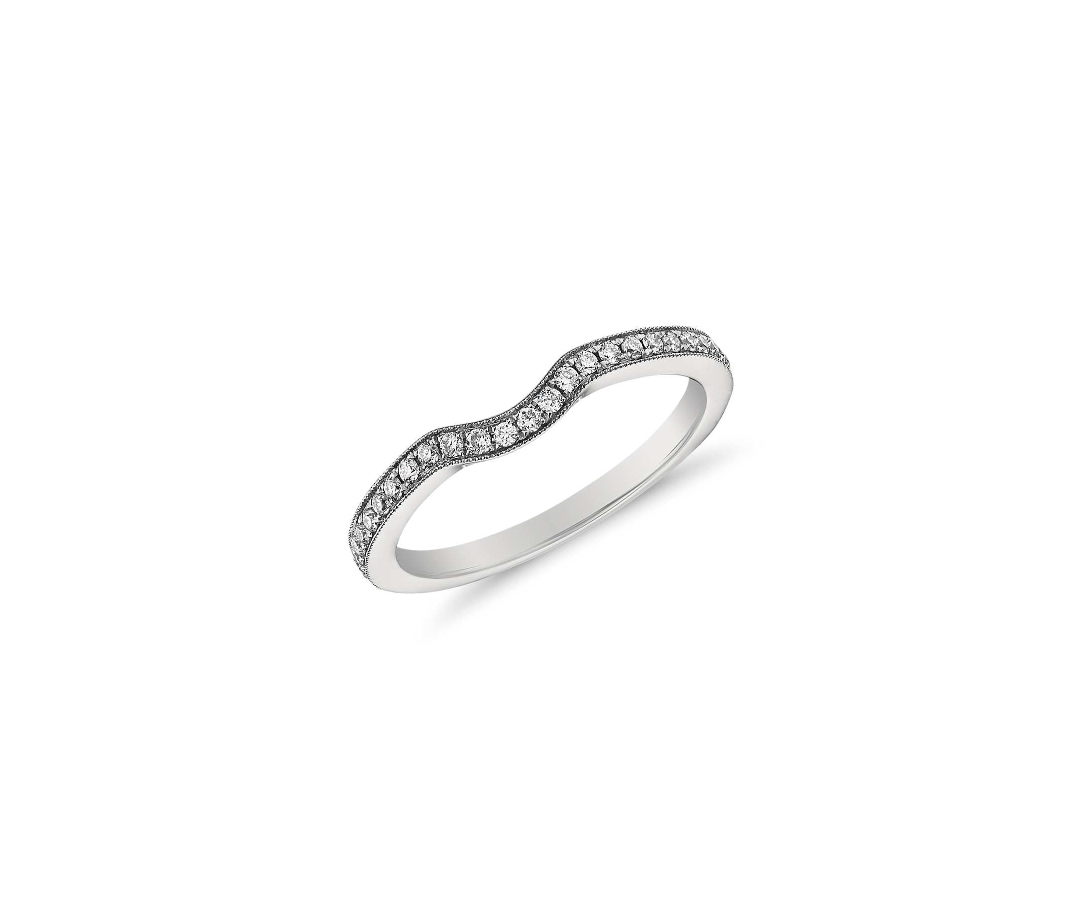 Wedding Bands That Pair Perfectly With Unique Engagement With Regard To Recent Wave Diamond Wedding Bands With Pavé (View 16 of 25)