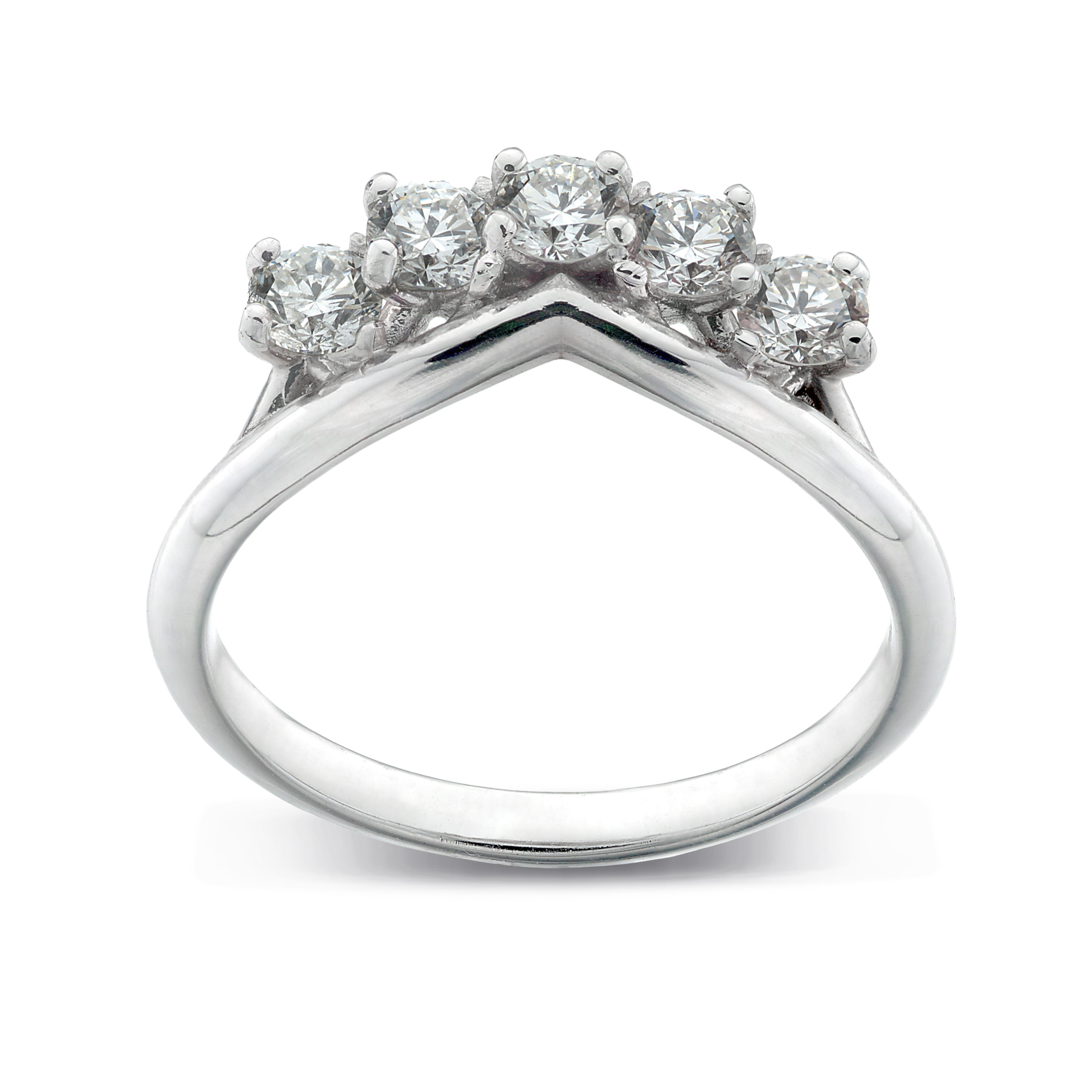White Gold Diamond Ring With 'v Shaped' Curve In Fairtrade Gold With Regard To Newest V Shape Diamond Wedding Bands (View 24 of 25)