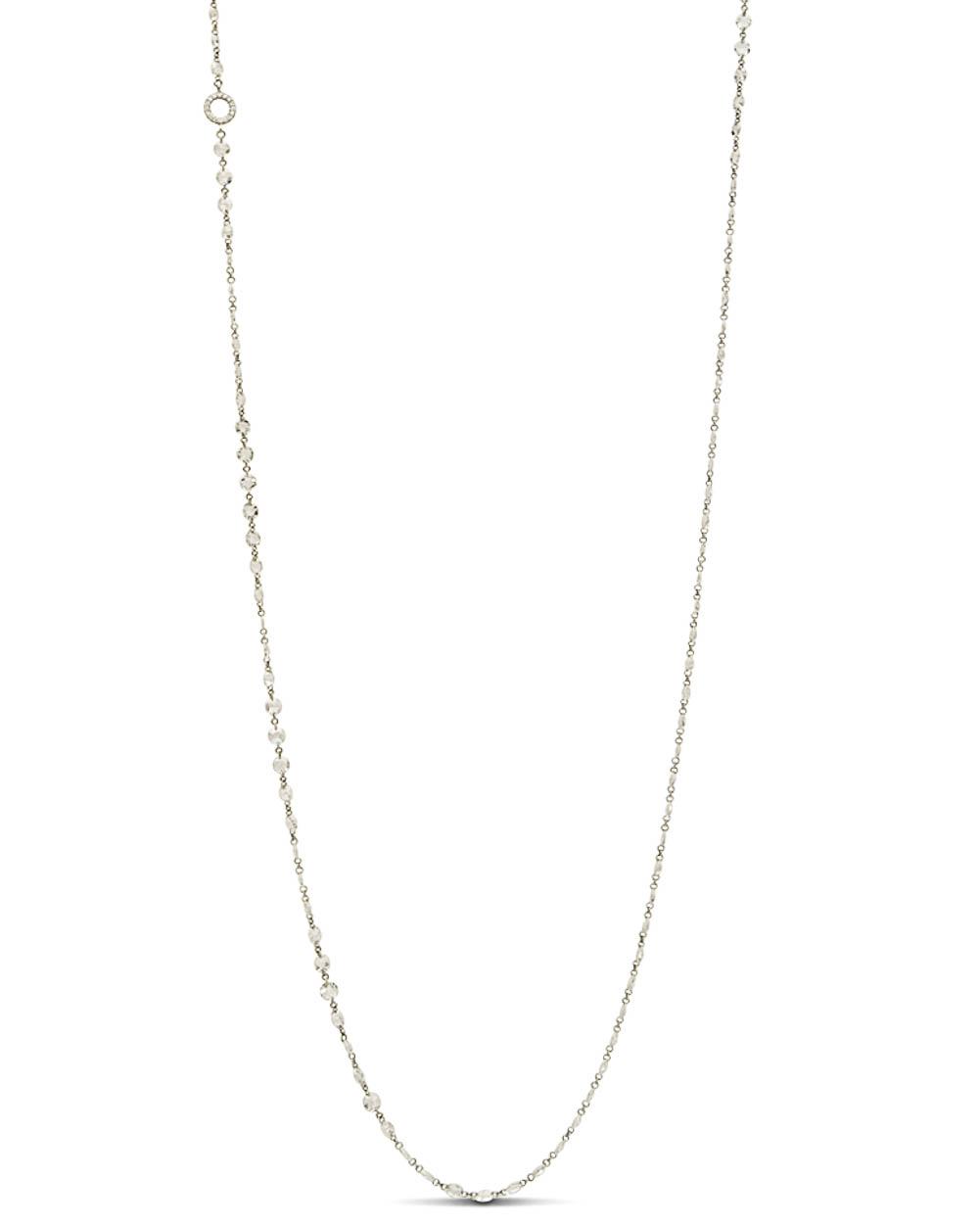 White Gold Medium Diamond Chain Necklace Regarding Most Popular Medium Diamond Necklaces (View 22 of 25)