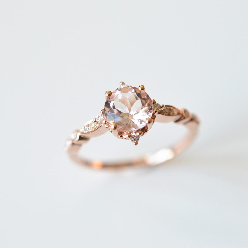 Why The Morganite Could Be A Perfect Fit For Your Wedding Intended For 2018 Diamond Voilà Wedding Bands (View 24 of 25)
