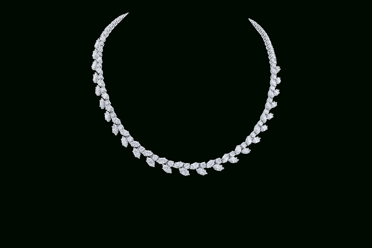 Winston™ Clusterharry Winston, Diamond Necklace | Harry With 2020 Diamond Wreath Necklaces (View 16 of 25)