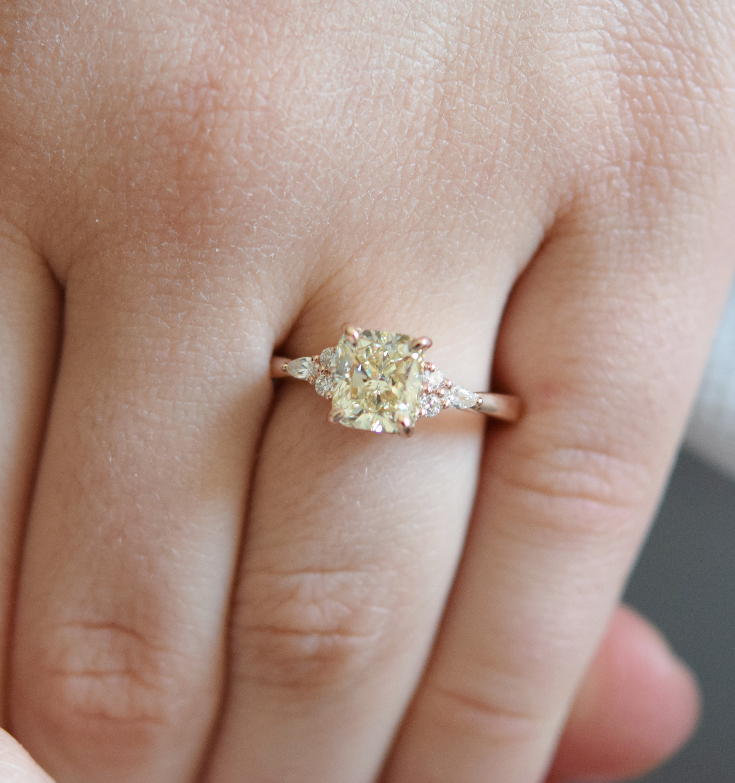 Yellow Diamond Ring. Champagne Diamond Ring (View 21 of 25)