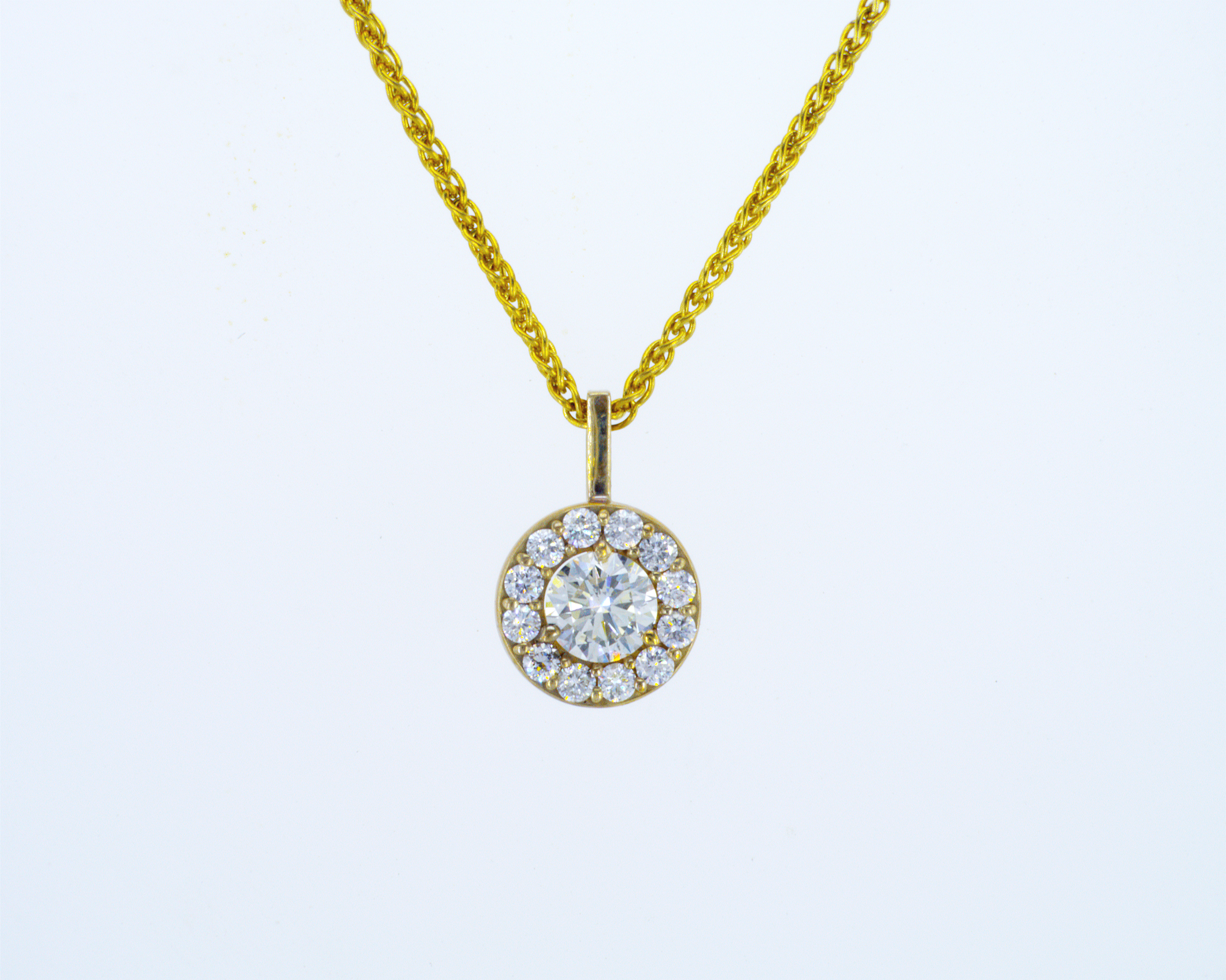 Yellow Gold Diamond Pendant Set With (View 14 of 25)