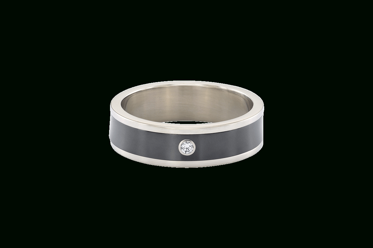 Zalium Men's Wedding Band | Harry Winston Throughout 2018 Single Diamond Zalium Wedding Bands (View 2 of 25)