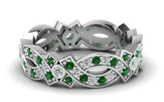 Diamond Braid Anniversary Bands in White Gold