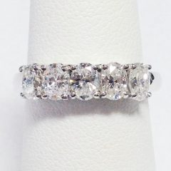Prong-Set Oval-Shaped Diamond Wedding Bands