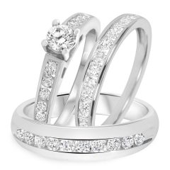 White Gold Wedding Bands Sets