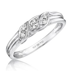 Ladies White Gold Diamond Wedding Bands