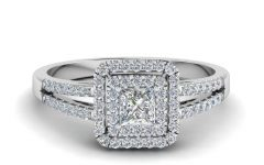 Vintage Princess Cut Wedding Rings