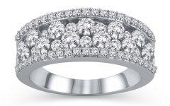 Diamond Layered Anniversary Ring in White Gold