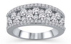 Diamond Layered Anniversary Ring in White Gold