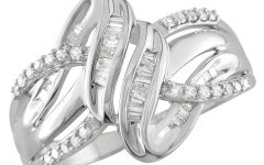 Diamond Twist Rings in Sterling Silver
