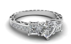 Diamond Accent Vintage-style Anniversary Bands in White Gold