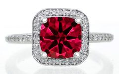 Princess Cut Ruby Engagement Rings