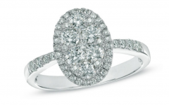 Composite Diamond Frame Vintage-style Engagement Rings