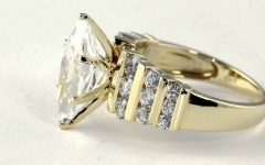10K Gold Cubic Zirconia Engagement Rings