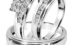 White Gold Wedding Rings Sets