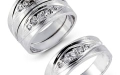 Thick White Gold Wedding Bands