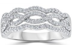 Diamond Multi-row Anniversary Ring in White Gold