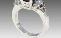 Black Diamond Skull Engagement Rings