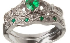 Emerald Claddagh Engagement Rings