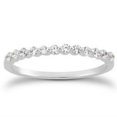 Floating Diamond Wedding Bands