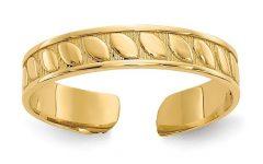 14k Gold Toe Rings