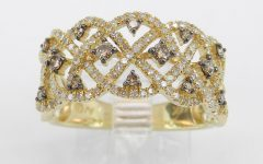 Champagne Diamond Anniversary Bands in White Gold