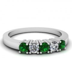 Emerald Anniversary Rings