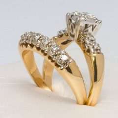 Yellow Gold Wedding Band Sets