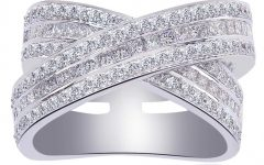 Princess-cut Diamond Criss-cross Anniversary Bands in White Gold