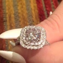 2 Karat Cushion Cut Engagement Rings