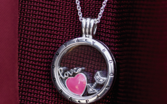 Pandora Logo Pavé Heart Locket Element Necklaces