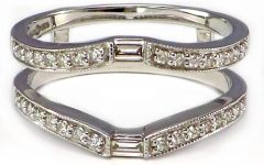Round And Baguette Diamond Solitaire Enhancers In 14K Gold