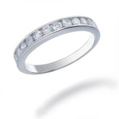 White Gold Diamond Wedding Bands For Women