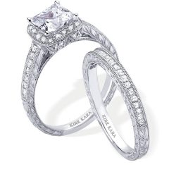 Platinum Engagement And Wedding Rings Sets