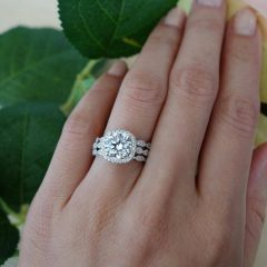 3 Band Engagement Rings