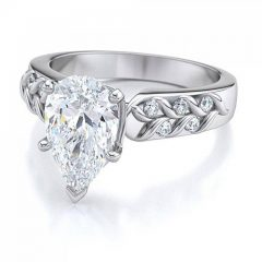 Pear Shaped Diamond Engagement Ring Settings