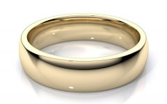 14K Yellow Gold Mens Wedding Bands