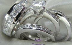 Diamond Wedding Bands Sets His and Hers