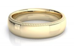 Mens Milgrain Wedding Bands