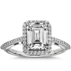 Emerald Cut Engagement Rings Under 2000