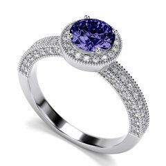 White Gold Tanzanite Engagement Rings