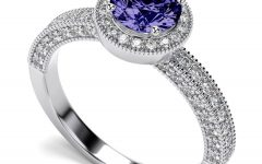 Tanzanite White Gold Engagement Rings