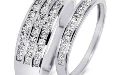 White Gold Wedding Bands His And Hers