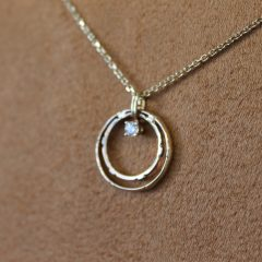 Wedding Bands On Necklace