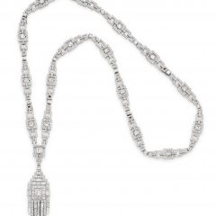 Diamond Sautoir Necklaces In Platinum