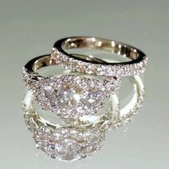 Platinum Cubic Zirconia Wedding Rings